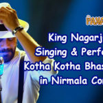 Nagarjuna Singing & Performing For Nirmala Convent