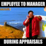 Employee and Manager during Appraisals