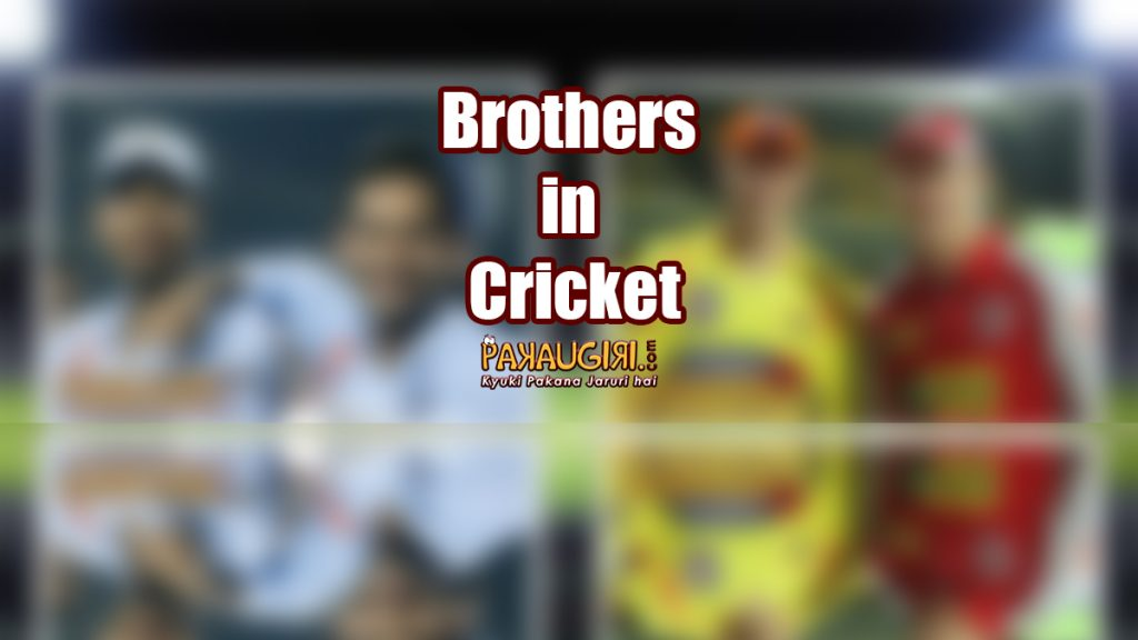 Brothers in Cricket