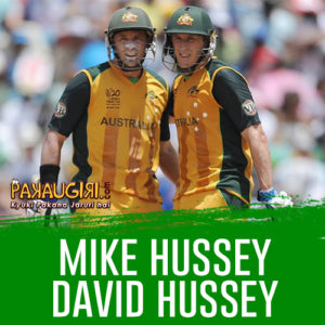 Mike Hussey and David Hussey