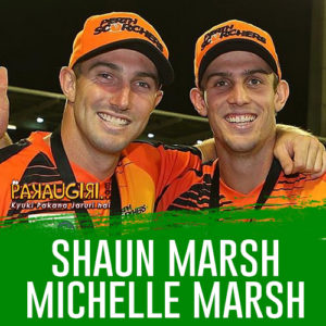 Shaun Marsh and Michelle Marsh