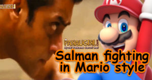 Salman fights in mario style