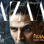 Akshay on the cover of Harper's Bazaar