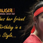 Sania wishes her friend on his Birthday in a Cute Style!!!