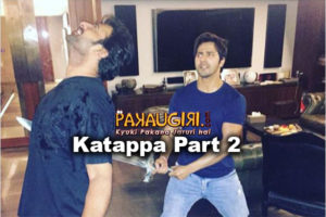 Varun Dhawan gets into Kattappa's Shoes
